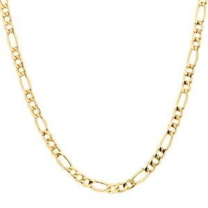 Genuine 10 K Gold Figaro Link Chain